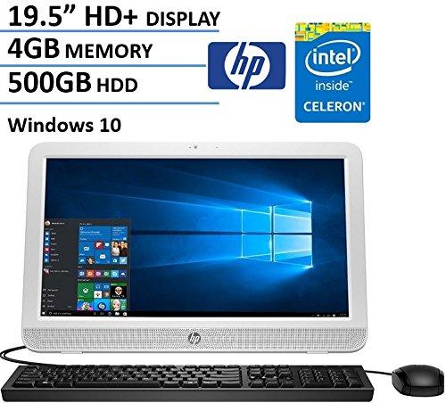 2016 HP Pavilion 19.5 Inch All-in-One Desktop Computer (Intel Celeron N3050, 4GB RAM, 500GB HDD, Wifi, DVD, Windows 10) (Certified Refurbished) (Windows Desktop Computer compare prices)