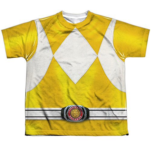 Power Rangers Childrens Live Action TV Series Yellow Costume Big Boys FrontPrint