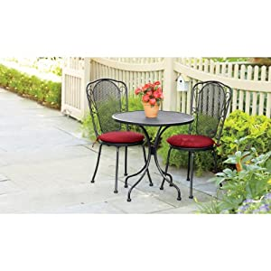 Living accents sienna outdoor patio 3 piece bistro set for Living accents patio furniture