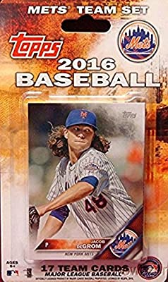 New York Mets 2016 Topps Baseball Factory Sealed EXCLUSIVE Special Limited Edition 17 Card Complete Team Set with David Wright, Yoenis Cespedes & More Stars & Rookies! Shipped in Bubble Mailer!