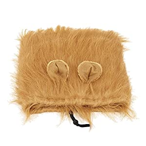 Dog Lion Mane Costume Funny Dog Lion Wig for Large Dogs Cosplay Christmas Easter Festival Party Pet Lion Mane Wig Fancy Hair with Ears Dress Up Clothes Drawstring Adjustable Best Gift for a Dog