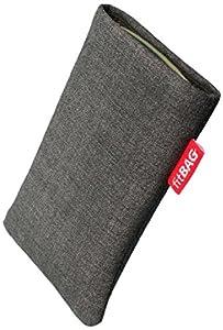fitBAG Jive Grau Handytasche Tasche aus Textil-Stoff mit Microfaserinnenfutter für Sony Xperia Z2