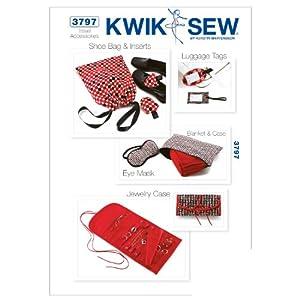 Kwik Sew K3797 Travel Accessories Sewing Pattern, No Size