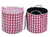 Super India PVC zipper storage cum laundry basket 50