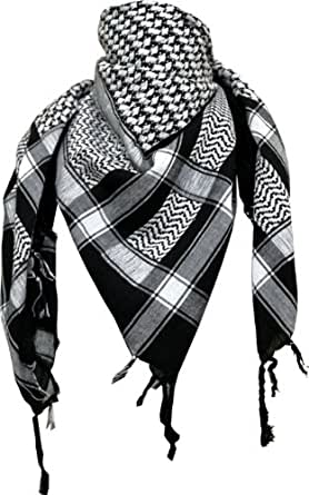 Arafat scarf in black/white