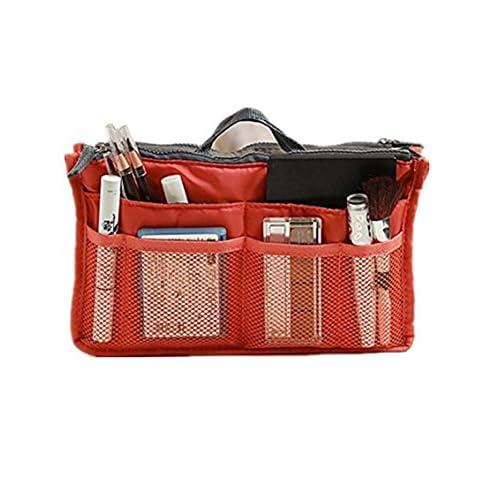 【バッグインバッグ】オレンジ ちょっとした外出や旅行、毎日カバンを変える方に便利!
