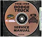 COMPLETE 1948 1949 DODGE TRUCK & PICKUP REPAIR SHOP & SERVICE MANUAL CD FOR Panels, Stakebeds, 1/2, 3/4, 1, 1 1/2, 2, 2 1/2, & 3 Ton Trucks, Cab-Over Engine & General Purpose Power Wagon. Models B-1-J, B-1-KA, B-1-R, B-1-T, and B-1-V.