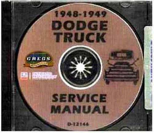 1948 1949 DODGE TRUCK & PICKUP REPAIR SHOP & SERVICE MANUAL CD INCLUDES: Panels, Stakebeds, 1/2, 3/4, 1, 1 1/2, 2, 2 1/2, & 3 Ton Trucks, Cab-Over Engine & General Purpose Power Wagon. Models B-1-B, B-1-C, B-1-D, B-1-PW, B-1-F, B-1-H.