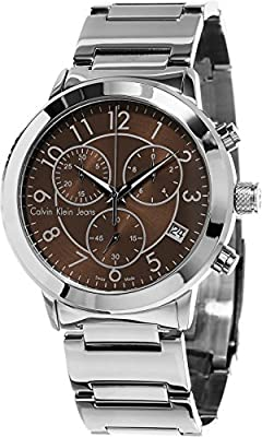 Calvin Klein Men's K8727176 Continual Analog Display Swiss Quartz Silver Watch
