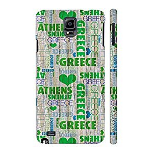 Enthopia Designer Hardshell Case In Love with Greece? Back Cover for Samsung Galaxy Note 4