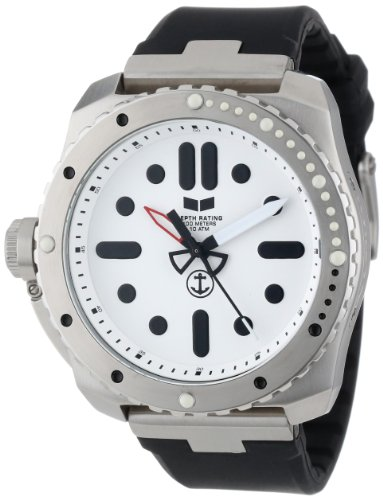 Vestal Men's RSD3S01 Restrictor Diver 50 Black Silver Watch