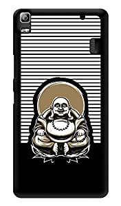 "Humor Gang Laughing Buddha On Chair Printed Designer Mobile Back Cover For ""Lenovo k3 note - Lenovo A7000 - Lenovo A7000 Plus - Lenovo A7000 Turbo"" (3D, Glossy, Premium Quality Snap On Case)"