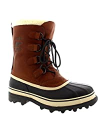 Mens Sorel Caribou WI Mid Calf Snow Winter Rain Fur Lined Leather Boot
