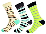 Fine Fit Mens Colorful Cotton Socks (2 Pair)