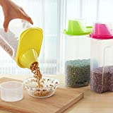 Kurtzy's cereal jar is ideal for preserving foods like pasta, cereal or even pet food in kitchen. They are great for storing items efficiently, and with less mess! These plastic boxes preserve your food once opened, and they are dishwasher and microw...