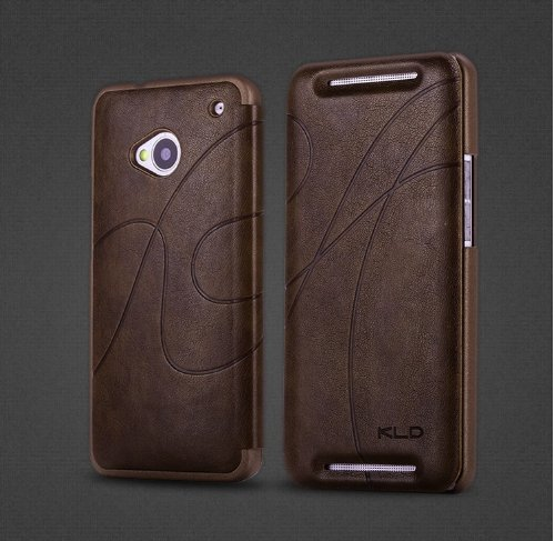Kld Oscar Ii Style Snap-On Ultra Thin Side Flip Synthetic Leather Cover Case For Htc One Htc M7 (Htc One, Brown/Coffee)