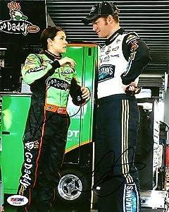 Danica Patrick & Dale Earnhardt Jr. NASCAR Dual Signed 8x10 Photo COA - PSA DNA... by Sports Memorabilia