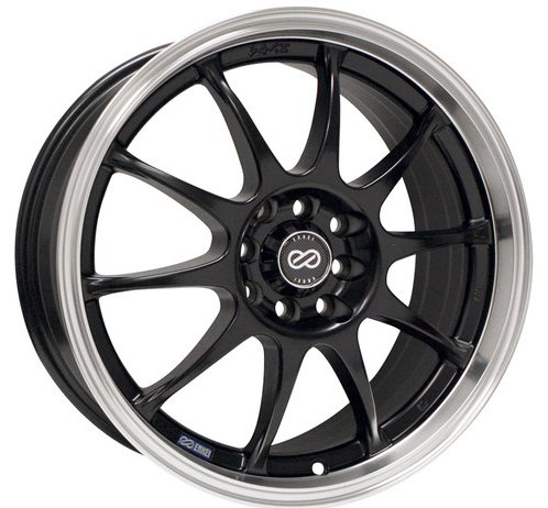 17x7 Enkei J10 (Matte Black w/ Machined Lip) Wheels/Rims 5x100/114.3 (409-770-12BK) (03 Mitsubishi Eclipse Lip compare prices)