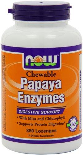 Now Foods enzyme de papaye, 360 Pastilles à