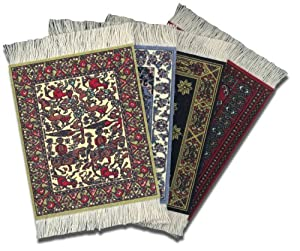 Lextra® International Collection CoasterRug®, Assorted Colors, Set of Four