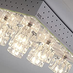 Halogen Ceiling Light with Colourful RGB LED–with Remote Control 9-Bulb from Lightbox
