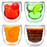 Set of 4 Double Walled Glasses - Tumb...