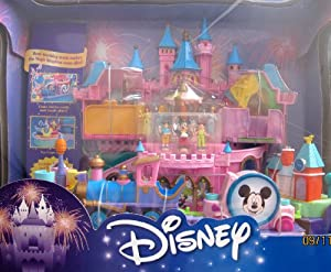 Disney Magical Miniatures MAGIC KINGDOM CASTLE Playset w MUSIC, Working TRAIN, 6 FIGURES & More! (2000)