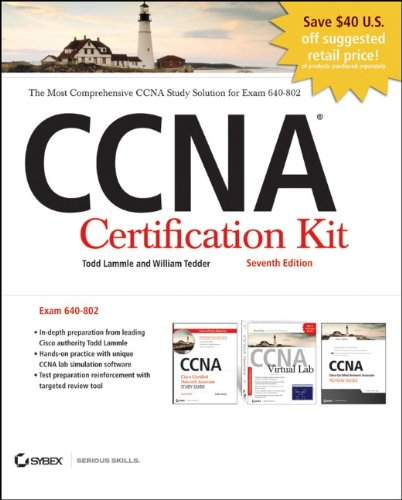 CCNA Cisco Certified Network Associate Certification Kit (640-802) Set, Includes CDs