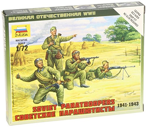 Zvezda Models 1/72 Soviet Paratroops - 1