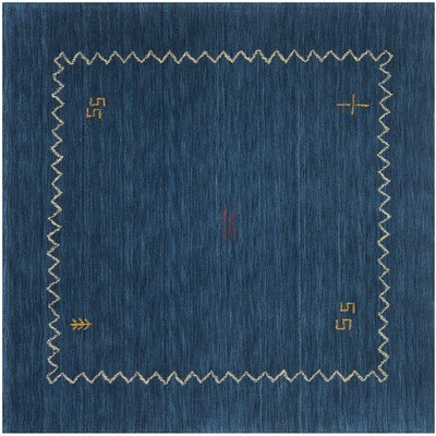 Safavieh Himalaya Collection HIM583A Handmade Blue Wool Square Area Rug, 6 feet Square (6' Square)