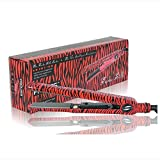 Proliss Turbo Silk Limited Edition Hair Straightening Irons, Red Zebra, 1 Pound
