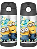 Thermos 12 Ounce Funtainer Bottle, Minions (2 pack)