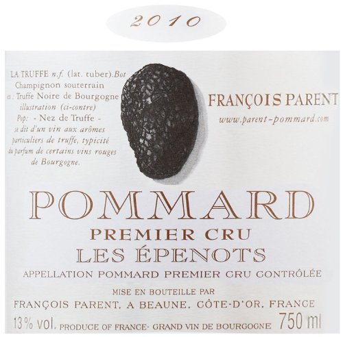 2010 Francois Parent Pommard Les Epenots Burgundy Pinot Noir 750 Ml