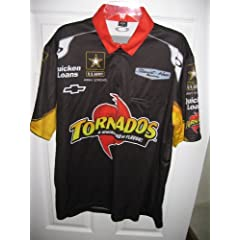 Authentic Tornados Lg Nascar Race Used Stewart Pit Crew Shirt Oakley Newman Chevy... by Oakley
