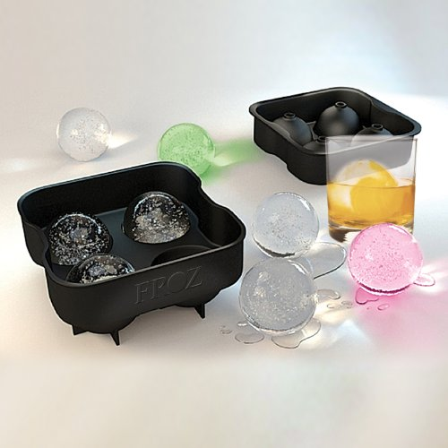 "Housewares Solution FROZ Sphere Ice Ball Maker - 100% Food-Grade, BPA Free Silicone Ice Mold Tray - Makes 4 Large 2"" Slow Melting Round Ice Balls... at Sears.com"