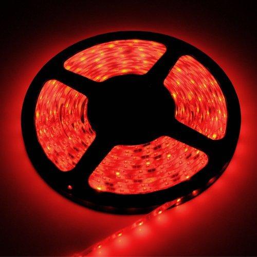 New 5 Meter / 16.4 Feet 12V 300Led 5050 Smd Red Waterproof Flexible Lamp Light Strip Car