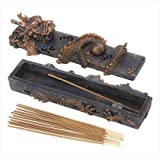 Dragon Incense Burner Set Asian Guardian Trinket Box