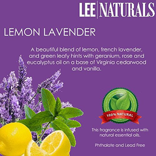 Lemon Lavender Premium 6-Piece 6.4 Oz Soy Wax Melt Clamshell - 2-Pack Of Naturally Strong Scented Soy Wax Cubes Throw 50+ Hours Of Fragrance When Melted In Scentsy®, Yankee Candle® Or Standard Electric Tart Warmer