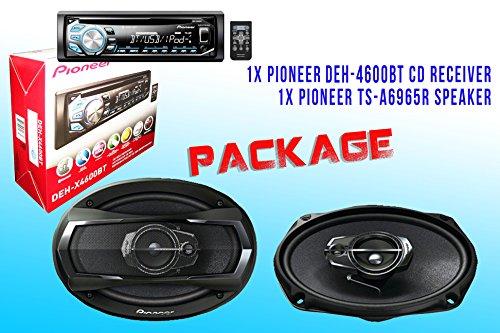 Package ! Pioneer Deh-X4600Bt Cd-Receiver + Pioneer Ts-A6965R Car Speakers