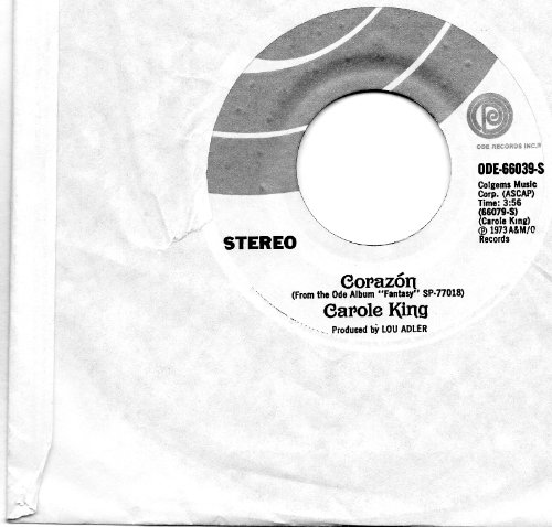 corazon that's how things go down 45 rpm single by CAROLE KING