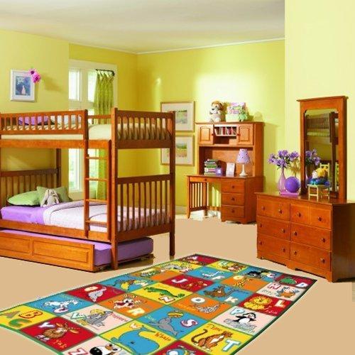 Kids Rug ABC Animals Area Rug 3′ X 5′ Children Area Rug