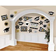 Black, Silver and Gold Mega Value Pack Graduation Cutouts [Toy]
