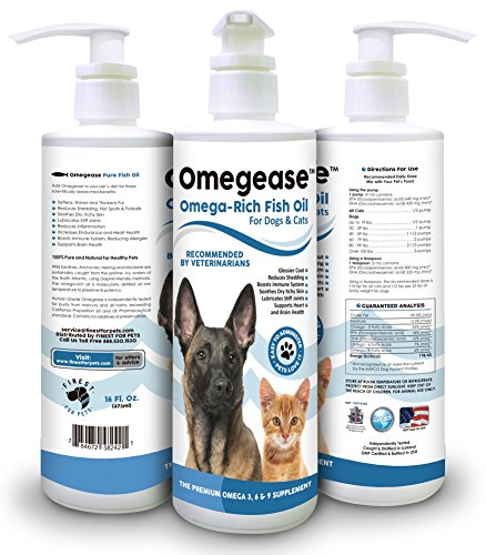 Omegease  Pure Omega Rich Fish Oil For Dogs And Cats