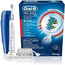 오랄비 프로 5000 스마트 전동칫솔 Oral-B Pro 5000 SmartSeries Power Rechargeable Electric Toothbrush with Bluetooth Connectivity and T, Blue