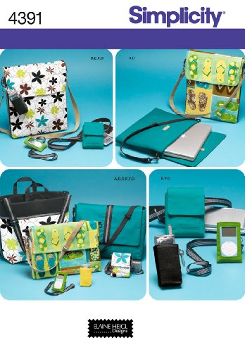 Simplicity Elaine Heigl Designs Pattern 4391 Purse and Accessories Multiple Styles (Purse Sewing Patterns compare prices)