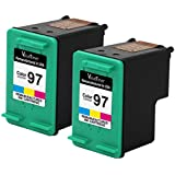 Valuetoner Remanufactured Ink Cartridge Replacement For Hewlett Packard HP 97 C9349FN C9363WN (2 Tri-Color) 2 Pack Compatible With Printing Mailbox A10 Deskjet 460 5740 5940 6520 6540 6548 6620 6830 6840 6940 6980 6988 9800 Officejet 100 150 6200 6210 6213 6215 7210 7310 7408 7410 H470 Photosmart 2605 2608 2610 2613 2710 320 325 330 335 370 375 385 420 422 425 428 475 8030 8038 8049 8050 8053 8150 8400 8450 8750 8753 8758 B8300 B8330 B8338 B8350 B8353 PSC 1600 1610 1613 2350 2355 Printer