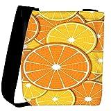 Snoogg Orange fever 2372 Womens Carry Around Cross Body Tote Handbag Sling Bags