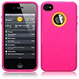 IPhone 4S / iPhone 4 Honeycomb TPU Gel Skin Case / Cover - Hot Pink Part Of The Qubits Accessories Range