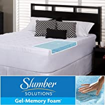 Hot Sale Slumber Solutions Gel 5.5-inch Memory Foam and Fiber Mattress Topper - king/Queen/Cal King