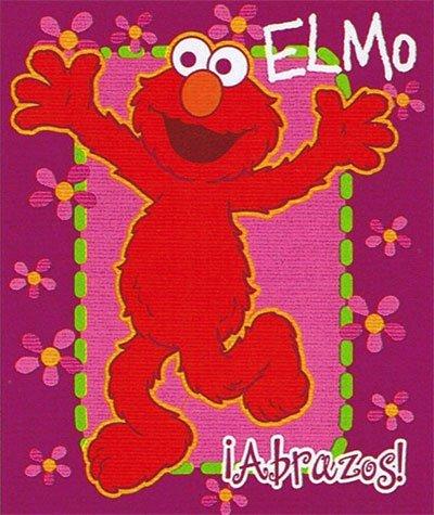 Sesame Street Twin Plush Elmo Blanket for Girls